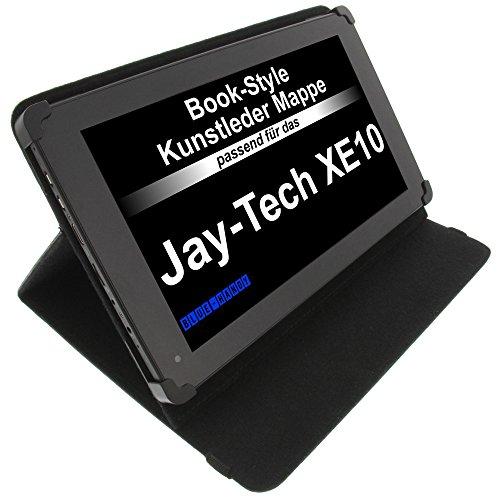 foto-kontor Tasche für Jay-tech XE10 BookStyle Tablettasche Schutz Hülle Schwarz