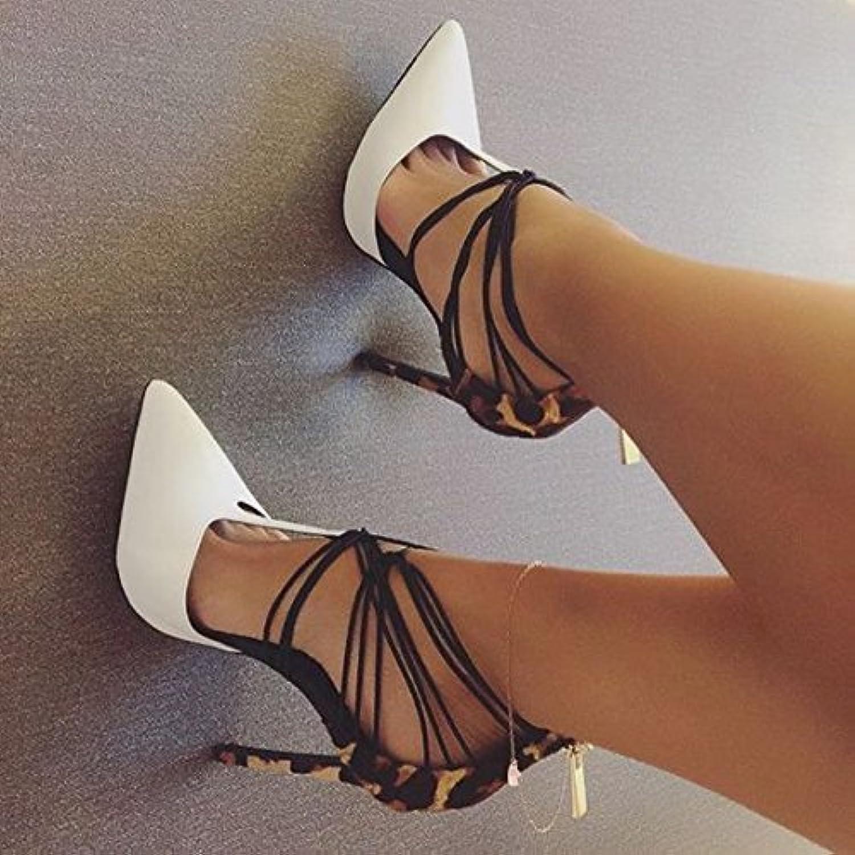ZHZNVX Tipp Stiletto Heel weiße Sandaletten Sandaletten Sandaletten Tasche mit Rücken Reißverschluss Sandalen  546ade