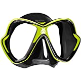 Mares Erwachsene X-Vision Tauchmaske, Lime/Black, One Size