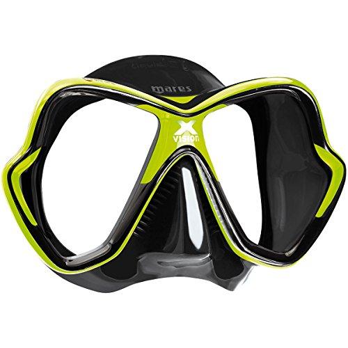 Mares Erwachsene X-Vision Tauchmaske, Lime/Black, One Size