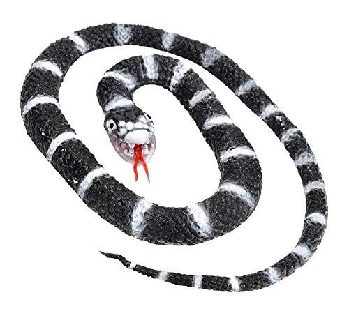 Wild Republic- Serpiente Rey de California de Goma, Color Negro, 66 cm (93002)