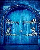 Pintura De Bricolaje Por Números,Puerta Antigua AzulPinturas Al Óleo Con Números,Pintado A Mano Sobre Lienzo Decoración Del Hogar Cuadro Regalo (40X50Cm)