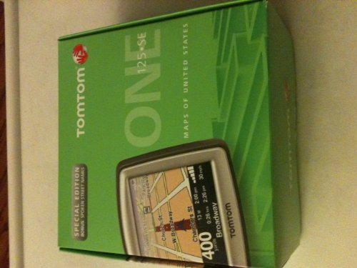 TomTom ONE 125 SE 3.5-Inch Portable GPS Navigator SPECIAL EDITION with Bonus Spoken Street Names (Text To Speech) -  5EE0.017.08
