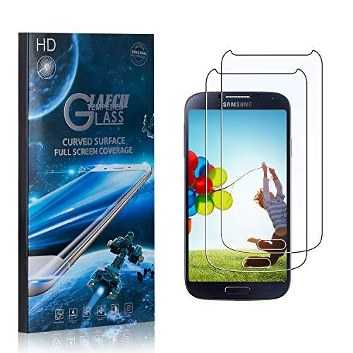 2 Stück Schutzfolie für Galaxy S4, LAFCH Displayschutzfolie für Samsung Galaxy S4, 3D Full Cover Panzerglasfolie, Anti-Kratzer/9H Härte