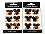 12 pcs Mini Hair Clips for Kids Girls and Women (BROWN)