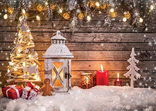 AIIKES 7x5FT Fondo de fotografía de Navidad Fondo de Adornos de árbol de Navidad de Vinilo Fondo de fotografía de recién Nacido Fondo de Fiesta Familiar Fondo de Estudio fotográfico de Navidad 10-823
