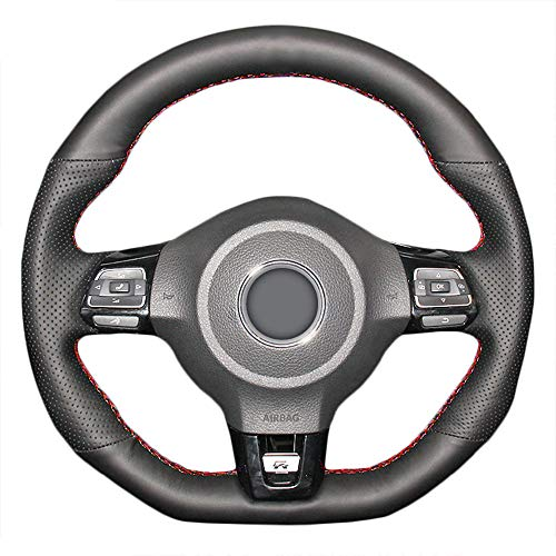 FXPTECG Funda de Volante de Coche, para VW Golf 6 GTI MK6,...