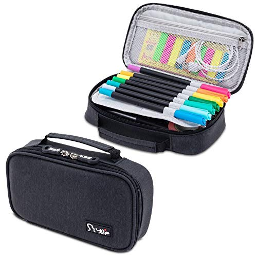 Briout Big Capacity Pencil Cases, Large Storage Pencil Pouch Boxes Stationery Organizer with Double...