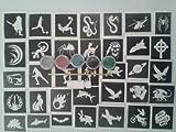 Garçons x 20 tatouage ensemble de gabarit pour les tatouages paillettes / art corporel + 5 couleurs de paillettes