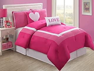 VCNY Hotel Juvi Comforter Set, 5-Piece, Full, Pink Love