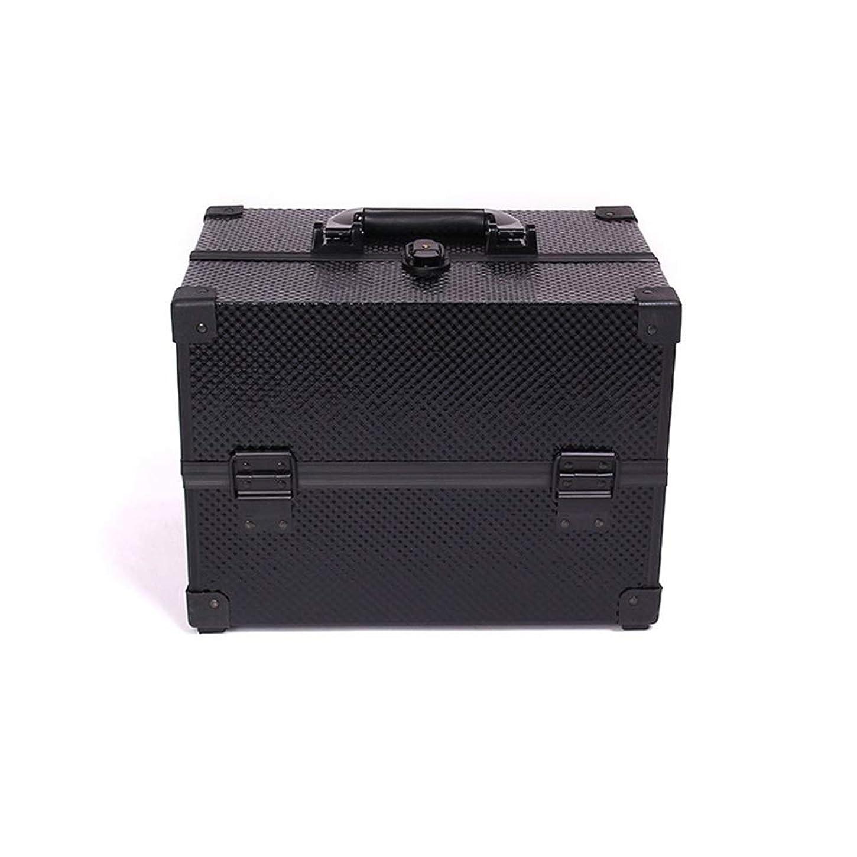 マウスピースマカダムリップBALLEEY 化粧箱アルミケース理髪ボックス美容化粧品フェイクレザーブラックメンズとレディースユニバーサルトラベルバッグレシーブバッグ洗濯バッグ (色 : 黒)