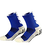 Anti Slip Voetbalsokken,Unisex atletische sokken Rubber Grip Voetbalsokken voor Voetbal Basketbal Baseball Yoga Runing Wandelen Trekking