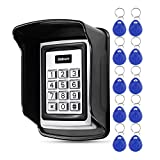 KDL Waterproof Access Control Keypad Proximity RFID Controller, 1000 Users, with 10pcs 125KHz RFID Keyfobs with Rainproof Cover, for Home Security Door Entry System Outdoor Use