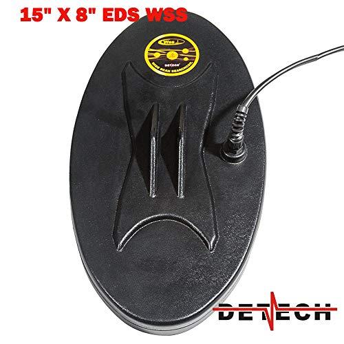 DETECH EDS WSS - Bobina para detectores de Metales Whites DFX, MXT, M6 (38 x 20 cm, Incluye Protector de Bobina)