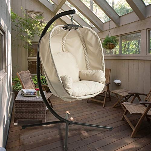 Aoxun Large Hammock Egg Chair with Stand , Basket Swing Chair for Outdoor&Indoor