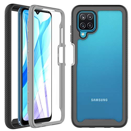 OWKEY Funda Samsung A12 + Pantalla Protector Integrado (Protector 2 en 1)...