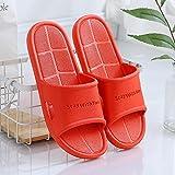 JFHZC Zapatos de baño,Zapatillas de baño de PVC para Hombres y Mujeres, Zapatillas de casa Antideslizantes de Verano, Sandalias y Zapatillas de baño para Parejas de Estudiantes-Red_2_36 / 37