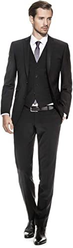 Benvenuto lila - Slim Fit - Herren Baukasten Sakko für Jungen Trend-Anzug mit sehr schlankem Schnitt, Adonis (20657, Modell  61283)