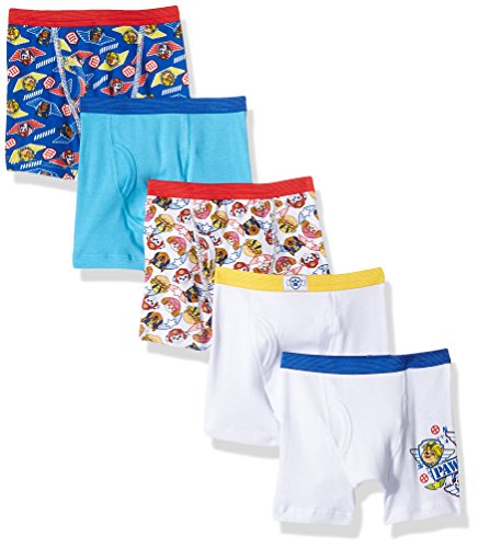 Nickelodeon Toddler Boys' Paw Patrol 5 Pack Boxer Brief, Assorted Prints, 2T/3T