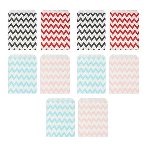 Topbathy - Bolsas de papel para dulces (50 unidades, forma ondulada)