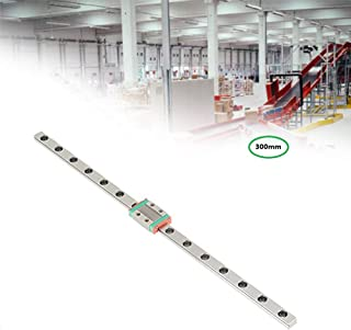Linear Sliding Guideway Rail 300mm ,Linear Slide Rail Guide and Rail Block,Bearing Steel Linear Rail Guide, for Precision Measuring Device,Automation Equipment