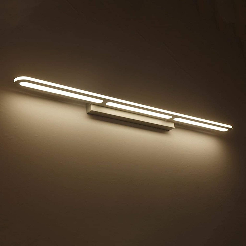 JU Spiegelleuchte Einfache und Moderne LED Spiegel Frontleuchte Badezimmer Badezimmer Spiegelschrank Licht Wasserdichte Nebelscheinwerfer Nordic Badezimmer Licht