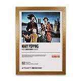 Póster retro de Mary Poppins – Marco de grano de roble A1