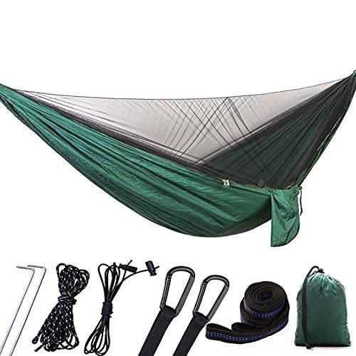 XHLLX Hamaca de camping al aire libre portátil de la persona 1-2 con la tela del paracaídas de alta resistencia del mosquito que cuelga