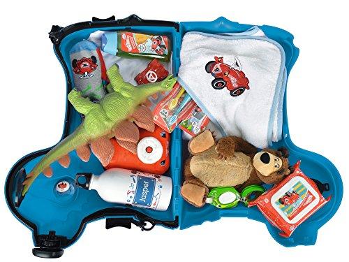 BIG 800055352 – Bobby-Trolley, Kinderkoffer, Kindergepäck, blau - 2
