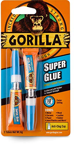Gorilla Super Glue Two 3 Gram Tubes Clear Pack of 1
