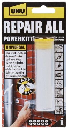 UHU Repair All Powerkitt Minis, 2-K Knetmasse für dauerhafte Reparaturen innen und außen, grauweiß, 60 g