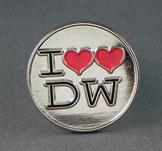 Spilla in metallo smaltato Doctor Who - 'I Love DW'