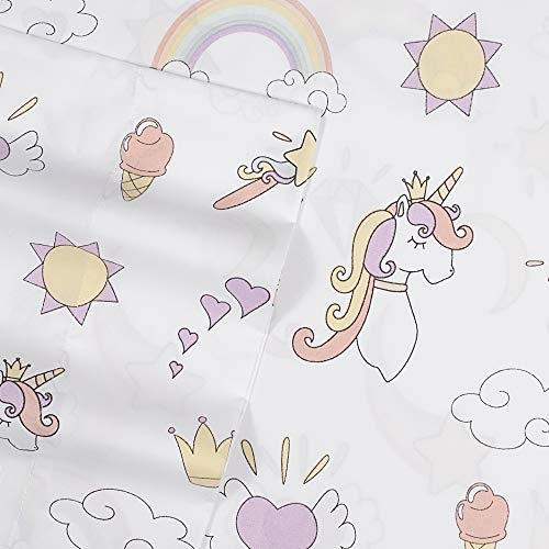 1500 Supreme Kids Bed Sheet Collection - Fun Colorful and Comfortable Boys and Girls Toddler Sheet Sets - Deep Pocket Wrinkle Free Hypoallergenic Soft and Cozy Bedding - Twin, Magical Unicorns
