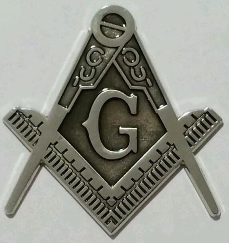 Car Chrome Decals Masonic Philippine 3 Metal Decal Emblem 3D Freemason Mason Philippines MAS2