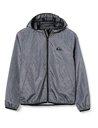 Quiksilver Jungen Jackets Everyday - Windbreaker mit Kapuze Für Jungen 8-16, Dark Grey Heather, M/12, EQBJK03189