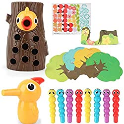 ⭐ GIOCATTOLI MAGNETICI: i picchi magnetici nutrono i giocattoli del gioco, consentendo ai bambini di aiutare a nutrire i bambini del picchio. Giochi per bambini, giocattoli prescolari, giocattoli magnetici educativi, giocattoli Montessori, giocattoli...