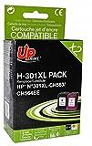 HP - CH563EE/CH564EE - 1 Noir + 1 Couleur - Grande Capacité - Economique - Qualité équivalente à la cartouche d'origine -...