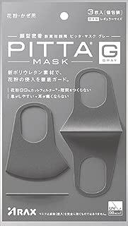 ARAX PITTA GRAY Face Mask, 3 Count (Made of polyurethane)