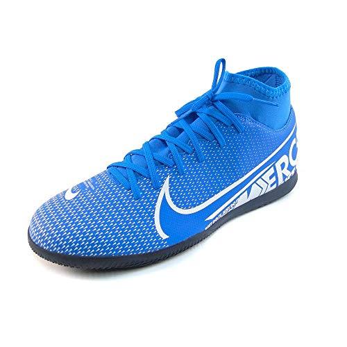 Nike Unisex-Erwachsene Superfly 7 Club Ic Fußballschuhe, Mehrfarbig (Blue Hero/White/Obsidian 414), 43 EU