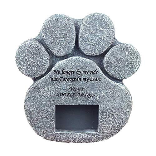JsJr-K-In Lápida para Mascotas, lápidas para Perros, lápidas conmemorativas, Placa de Marcador de Piedra, lápida Resistente para Interiores y Exteriores