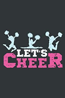 Let's Cheer: Cheerleading Notebook Journal Planner Or Diary ( Lined Paper   6x9   110 pages) To Write In School, Kids & St...