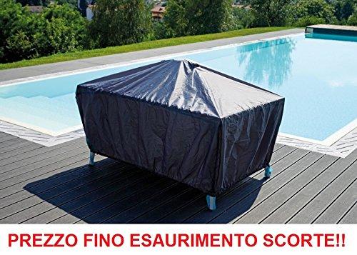 ALTIGASI Coque Housse en Polyester pour Table de Jardin extérieur Mesure 180 x 110 cm en Polyester Extra résistant – Doté de Étui