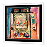 3dRose ht_56088_1 Matisse Painting The Open Window Iron on Heat Transfer for White Material, 8 by 8-Inch