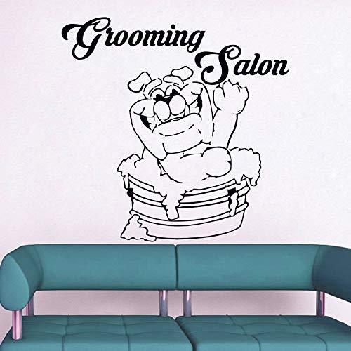 Verzorging Salon muurstickers huisdier hond Vinyl Sticker muurschildering waterdichte winkel muur raam decoratie muur Stickers dier 56 * 56cm