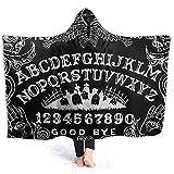 Henry Anthony Ouija Board Black Hoodie Decke Coral Plush Ultra Soft Plüsch Freizeit Wear Hooded Throw Wrap