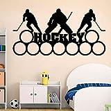 Hockey pared calcomanía arte deportes niños niño dormitorio decoración del hogar Hockey vinilo pegatina estadio Mural
