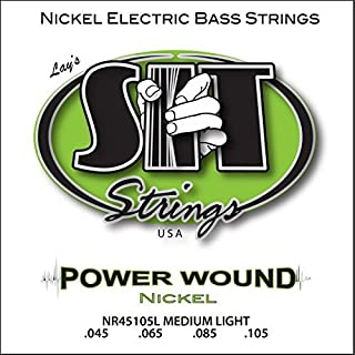 SIT Strings S.I.T. Stay In Tune NR45105L 4-String Medium Power Wound Nickel Bass ( (Renewed)