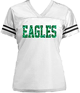70802b9da Eagles Glitter Jersey- or customize with your favorite team - Football