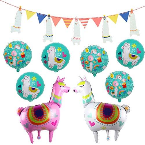 Folienballon Lama Helium Luftballon,Alpaka Ballon für Geburtstag Party Deko Kinder Spielzeug Geschenk,Tier Ballon,Kinderpartyballone,Bunting Banner,Alpaka Deko