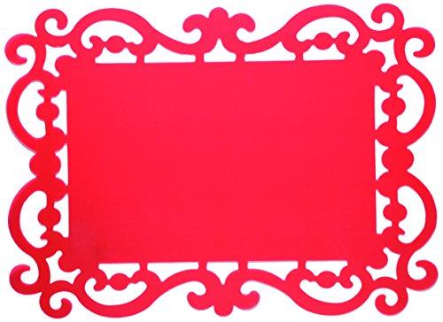 Bitossi Home Baroque Set 12 Tovagliette, PVC, Rosso, 44 x 32 cm